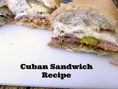 Ultimate Grilled Cuban Sandwich: 5 Steps (with Pictures) Grilled Cuban Sandwich Recipe, Easy Cooking, Cooking Recipes, Cuban Bread, Sandwiches For Lunch, Ham And Cheese, Food Trends, International Recipes, Pulled Pork