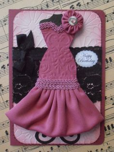 Dress Form Cards | ... Card with a Mannequin Dress Form with a Designer Dusty Pink Dress