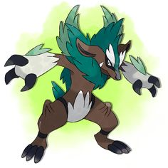 Fantastic Fakemon: Hedgur —> Badgel —> Devileaf Grass, Grass / Dark, Grass / Dark Artist: Fenneking