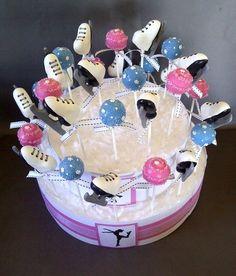 Ice Skate cake pops