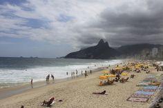 The rain's coming for Ipanema Beach, Rio de Janeiro, Brazil