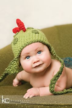 INSTANT DOWNLOAD Crochet Pattern Dinosaur Hat (5 Sizes Included Newborn to Adult) Permission to sell all finished items
