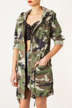 Camouflage Unlined Parka - Parkas & Macs - Jackets & Coats - Clothing - Topshop