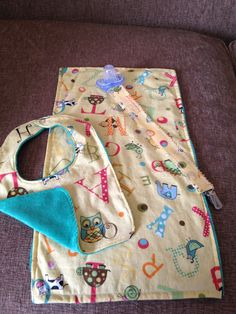 My DIY matching baby bib, burp cloth & pacifier clip.  My blog links to a tutorial for these!