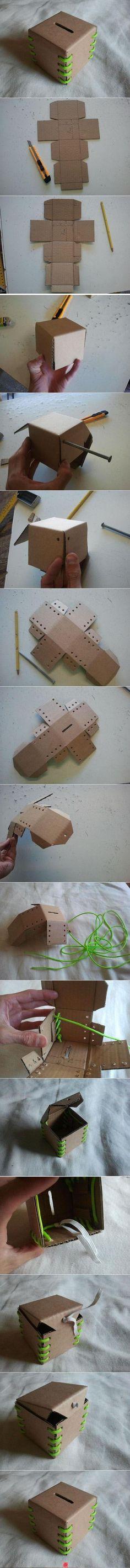 laboratori per bambini  salvadanaio cubo scatola