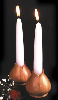 Turned Candleholders Woodworking Plan from WOOD Magazine