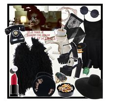 """""""If I had a tumor, I'd name it Marla."""" by zeynepciim ❤ liked on Polyvore featuring WearAll, Maison Margiela, Emporio Armani, Jeffrey Campbell, Smashbox, Gara Danielle, Lanvin and ORLY"""