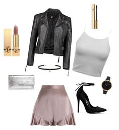 A fashion look from November 2016 featuring rider leather jacket, silk short shorts and white hand bags. Browse and shop related looks. Loeffler Randall, Olivia Burton, Hyde, Boohoo, Yves Saint Laurent, Shoe Bag, Polyvore, Stuff To Buy, Shopping