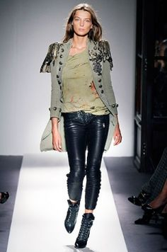 A look styled with military inspired accents for a cozy and edgy style! BALMAIN FW 2012