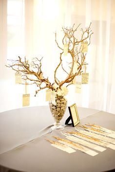"a ""wish tree"" for marriage advice. this is the best one i've seen. use various colored leaf-shaped papers for advice cards? could be easily modified for any season."