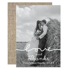 #wedding #thankyoucards - #Rustic Love & Thanks Photo Wedding Thank You Card