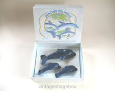 Vintage Avon Dancing Dolphins Soap Set 1980s by VintageImageBox