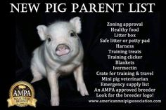 New pig parent list