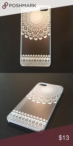 iPhone 6+ 6s+ Plus Henna Boho Hard Shell Case New This is a hard shell open face case, has a beautiful design print. Accessories Phone Cases