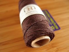 Hemp Cord - Chocolate Brown - #20 20lb / 1mm cord Hemptique - Five (5) Metres -  Jewellery Making Stringing Knotting Cord Thong UK Seller by LoveEllieBagMaking Find it now at http://ift.tt/1rsC9ui!