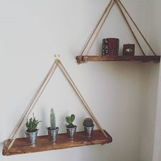 Rope shelves for the living room or hallway