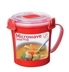 C$ 8.01  Pas cher Nouveau Micro ondes Soupe Tasse avec Couvercle et Poignée, 22 OZ/656 ML, légumes soupe tasse, BPA livraison, Rouge K050, Acheter  tasses de qualité directement des fournisseurs de Chine:2 Tier Microwave Vegetable Steamer with Lid,BPA Free,White,suit small kitchen or busy cook K112USD 13.50/set2.6L Microwa