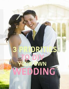 The 3 Main things to decide before you DIY your own wedding. Check out what I did to produce my own wedding on a budget but very personal and full of love. Andrea Santana Blog.