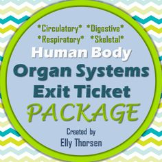 Quickly assess student understanding of different organ systems in the human body--great for middle school science