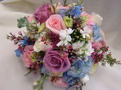 Spring colors, bridal bouquet