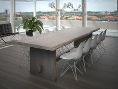 Robuuste houten tafel  Love it!!!