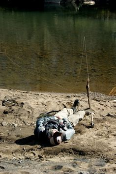 Fly fishing can be exhausting sometimes, but when you find a rod rest, things become more peaceful...