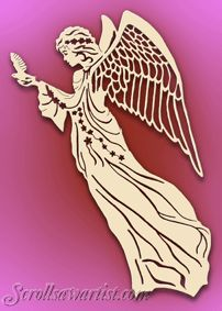 Scroll Saw Patterns :: Religious & Inspirational :: Angels – - Holzarbeiten Scroll Saw Patterns Free, Scroll Pattern, Paper Cutting, Christmas Angels, Christmas Crafts, Wood Crafts, Diy And Crafts, Paper Crafts, Woodworking Crafts