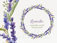 Acuarela guirnalda con flores de lavanda. por NatalivaShades