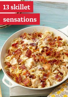 13 Skillet Sensations – With these one-pot wonders, you get to serve up a wonderful dish with just one pan and little to clean up. (That's sensational!) Our skillet recipes range from ground beef and chicken classics to Healthy Living options and Italian, Mexican and Asian-inspired favorites.