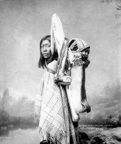 1899 Ra-De-Da, a Ute Native American woman and her baby, Pio Pinos; the baby is strapped in a cradleboard.