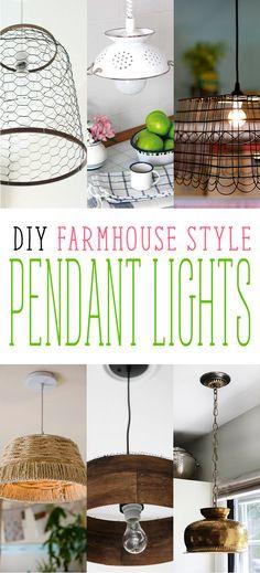 DIY Farmhouse Style Pendant Lights - The Cottage Market