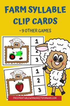 Are you ready for some farm fun? These 10 simple literacy and math centers will have kids clucking with excitement and asking for moo-re! Free Printable Worksheets, Worksheets For Kids, Printables, Fun Games For Kids, Activities For Kids, Early Learning, Fun Learning, All About Me Preschool Theme, Rainbow Writing