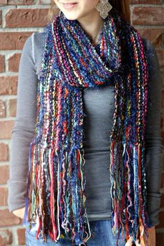 An awesome multicolor scarf in incredibly bright colors.