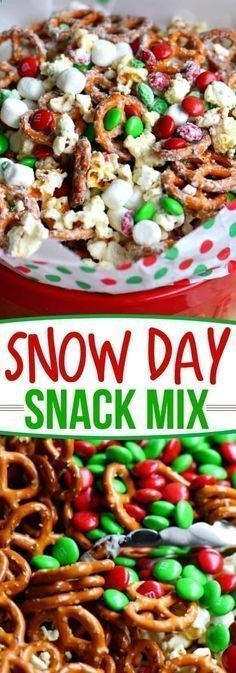 This wonderfully festive Snow Day Snack Mix is the perfect easy treat all winter long! Both sweet and salty, this holiday snack mix is great for Christmas, movie nights, parties, gifts and so much more! Healthy game movie gluten free girls ideas date late carvings fight poker triva ladies guys friday burns hens saturday easy photography party boys market quotes cooking mornings ovens kids one port peanut butter cheese meat low carb suces friends veggies chocolate chips sweets vegans oa...