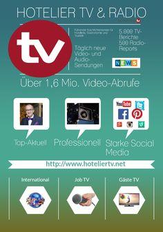 HOTELIER TV & RADIO ist der führende Nachrichtensender für Hotellerie, Gastronomie und Tourismus - Topaktuell mit http://www.hoteliertv.net