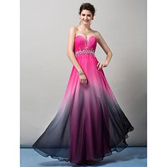 Homecoming TS Couture Formal Evening Dress - Sheath/Column Sweetheart Floor-length Chiffon – USD $ 129.99