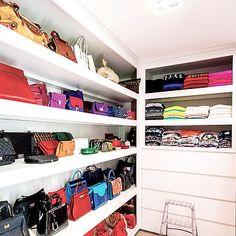 Closet with Bag Shelves