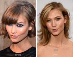From bob to low-maintenace lob: if you chopped your last year hair like Karlie Kloss, you've likely reached that agonizing in-between stage. Here, pro tips for surviving and thriving #hair
