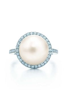 Tiffany South Sea Noble Pearl Ring