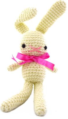 How to make Amigurumi - String Bean Bunny - DIY Craft Project with instructions from Craftbits.com