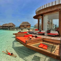 Bora Bora - looks like heaven - love the lounge deck over the crystal clear water...x