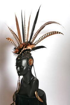 CUSTOM  ORDER Large Feather Mohawk by MissGDesignsShop on Etsy, $400.00