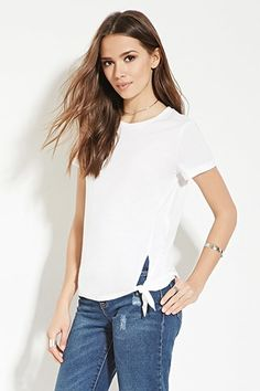 Contemporary Knotted-Hem Tee