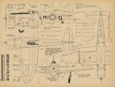 Republic P-47 Thunderbolt 4 View Drawing