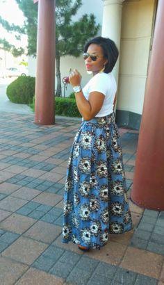 Marvelous Ankara Maxi skirt Maxi skirt - DIY by Maxi Skirt Winter, Diy Maxi Skirt, Ankara Skirt, Ankara Fabric, Maxi Skirts, African Attire, African Wear, African Skirt, African Inspired Fashion