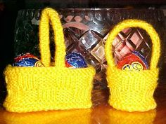 Free Easter Egg Basket Knitting Pattern
