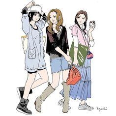 いいね!400件、コメント1件 ― 江口寿史 EGUCHI HISASHIさん(@eguchiworks)のInstagramアカウント: 「Apr.2010 #illustlation #artwork #bandedessinee #comicart #kichijoji」