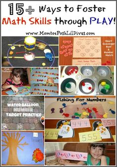 Mom to 2 Posh Lil Divas: Fostering Kindergarten Math Skills Through Play {Get Ready for K Through Play} Math Activities For Kids, Math For Kids, Fun Math, Math Games, Preschool Ideas, Preschool Teachers, Maths, Teaching Resources, Math Classroom