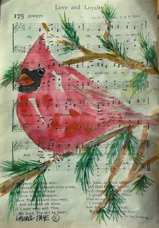 48 Ideas Love Bird Painting Diy Sheet Music For 2019 Hymn Art, Bible Art, Book Art, Christmas Paintings, Christmas Art, Love Birds Painting, Sheet Music Art, Watercolor Water, Music Crafts
