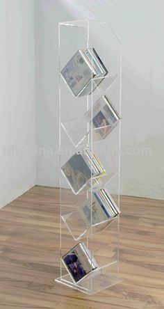 Acrylic Floor Standing Cd Rack;acrylic Cd Holder;acrylic Cd Display Stand